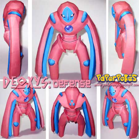 Pokemon Deoxys Papercraft Defense Forme