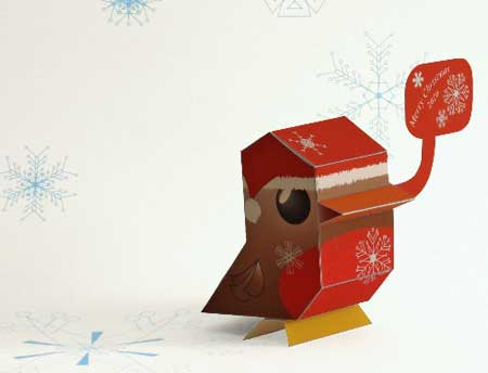 Christmas NaniBird Paper Toy