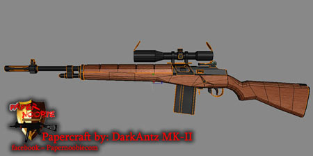M14 Rifle Papercraft