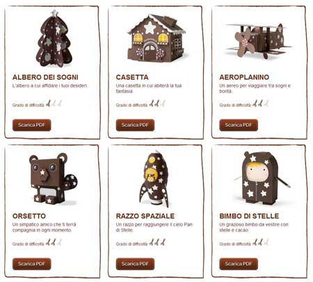 Pan di Stelle Christmas Paper Toys