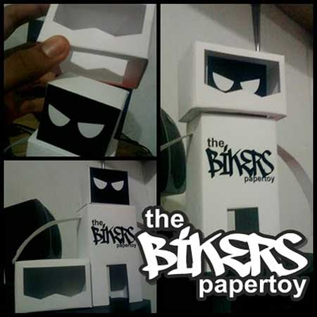 The Bikers Paper Toy