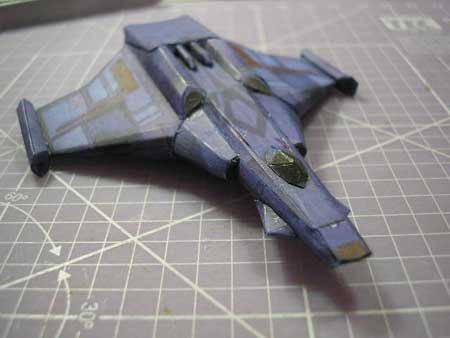 Super Wing Commander Rapier Class Confederation Fighter Papercraft