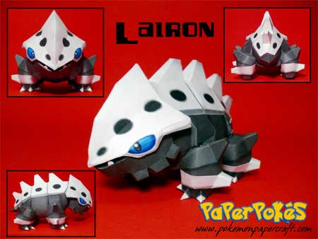 Pokemon Lairon Papercraft