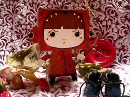 Little Red Riding Hood Paper Toy