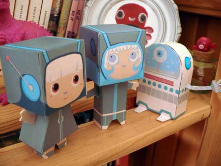 Intergalactic Explorers Paper Toy