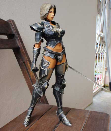 Lineage 2 Female Human Knight Papercraft