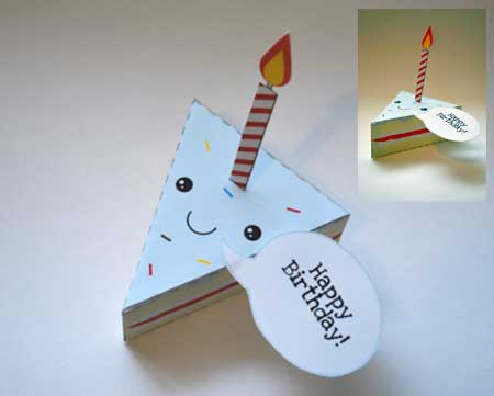 Birthday Cake Paper Toy