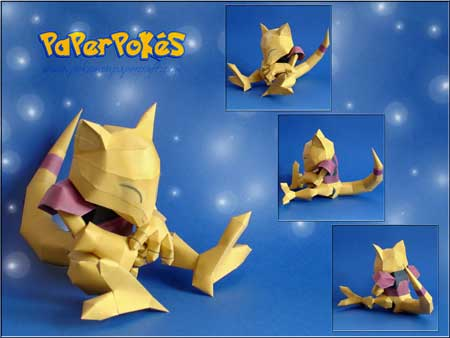 Pokemon Abra Papercraft