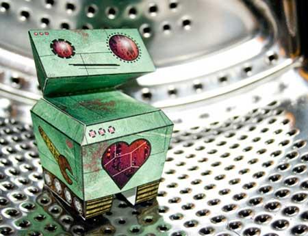 Bashful Bot Paper Toy