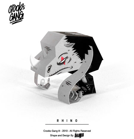 Crooks Gang Paper Toy Rhino