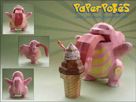 Pokemon Lickitung Papercraft