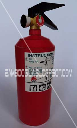 Fire Extinguisher Papercraft