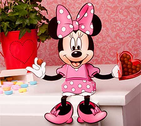 Minnie Mouse Valentine's Day Candy Box Papercraft