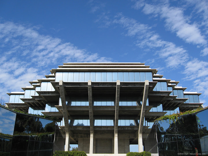 Geisel Library and sky