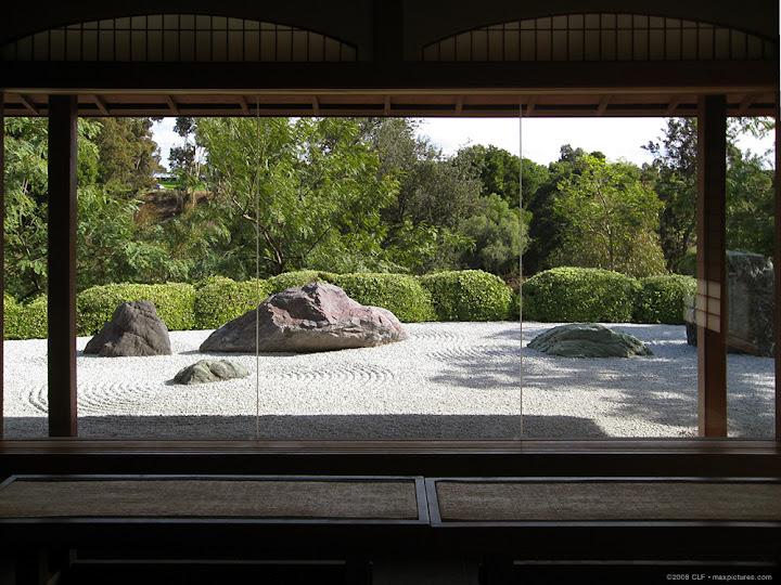 Zen garden view