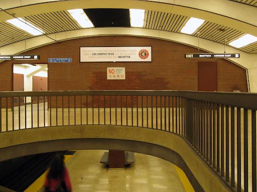 Towards Addison exits