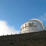 Below the UK Infrared Telescope (UKIRT)