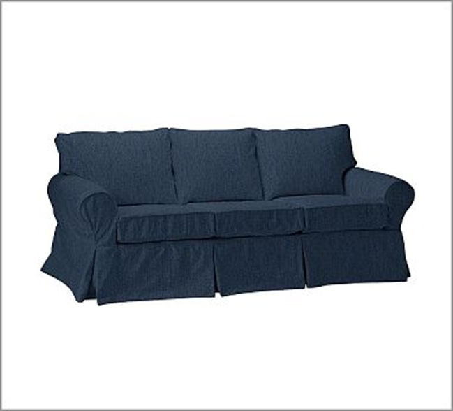 The langham project may 2010 Denim loveseat
