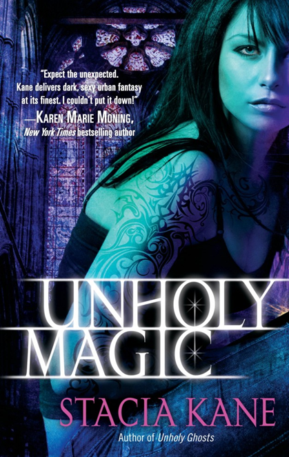 Cover Art: Unholy Magic and City of Ghosts by Stacia Kane