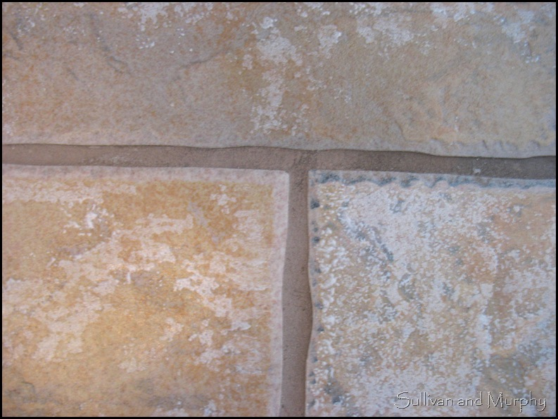 discolored grout