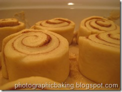 sticky buns in pan