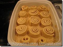 Arranged sticky buns