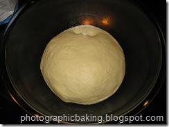 Indentations in dough
