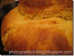 Close up of the brioche's crust
