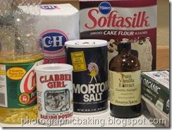 Vanilla Chiffon Cake mis en place