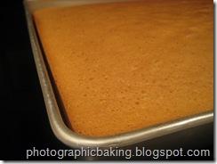 Cake corner close up