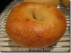 A finished bagel