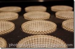 Lined cupcake tin