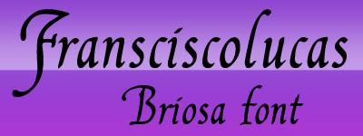franciscolucas briosa Font কিছু পেচাইন্না হাতের লিখা (৪৫টি জটিল ফন্ট) ফ্রী ডাউনলোড করেন