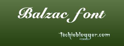balzac Calligraphic Font