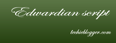 Edwardian script callygraphic font