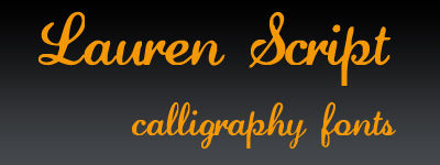 Lauren Script Calligraphy fonts
