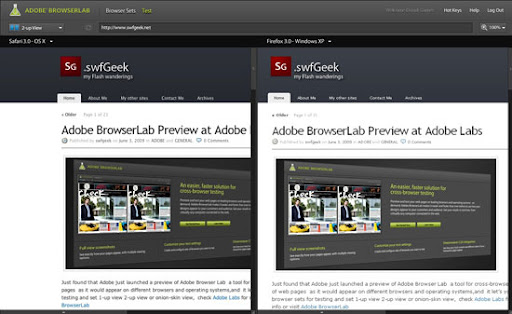 Adobe Browserlab - the cross browser checker
