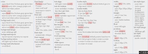 CSS Sandbox - CSS, sandbox, online, interactive, realtime, demo, play, properties, effect
