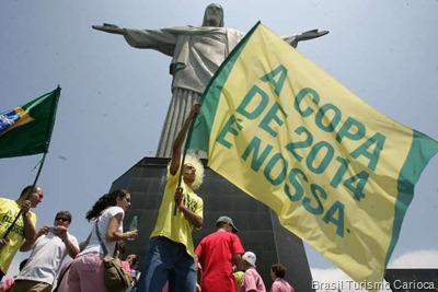 O Rio de Janeiro já está no clima da Copa do Mundo de 2014