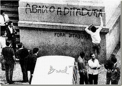 Estudantes protestando no RJ na década de 70