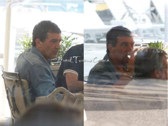 Antonio Banderas no hotel