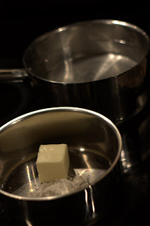 picture of melting butter in small saucepan