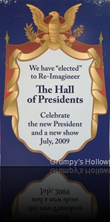 Hall of Presidents Sign