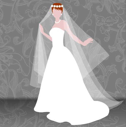 Free SVG wedding dress