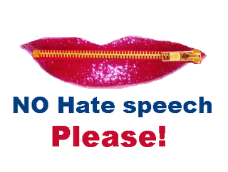 say no to hate speech