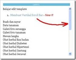 vertical scroll bar