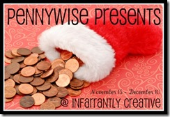 Saved pennies spilling out of a Santa stocking.