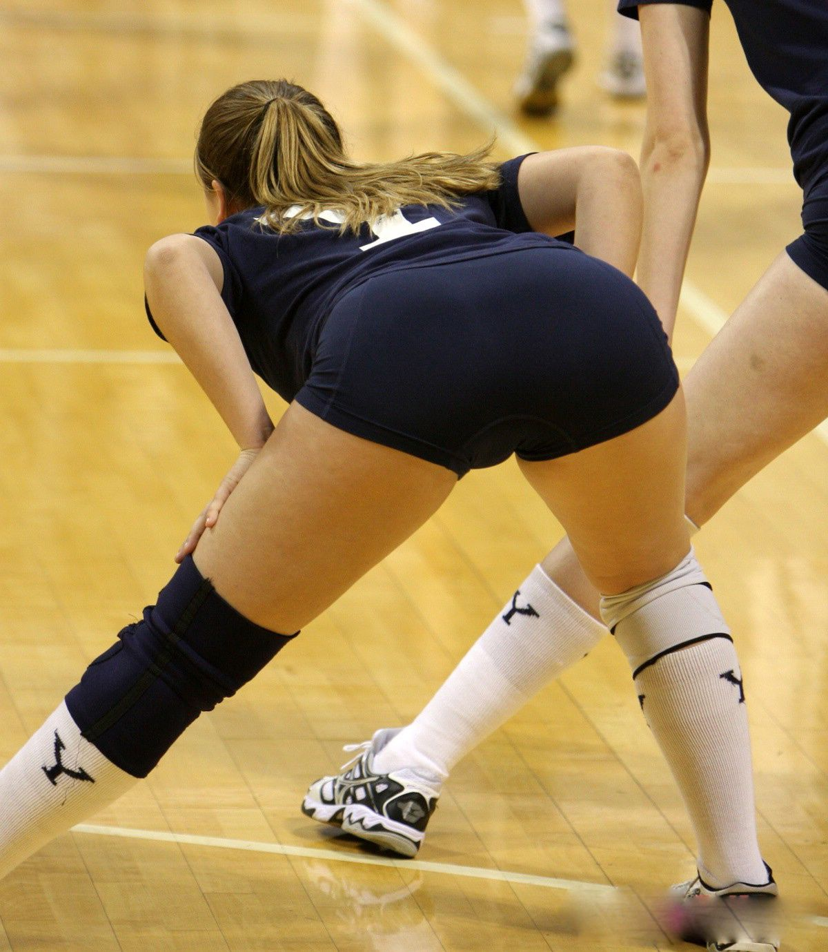 girls in volleyball shorts