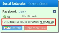 Yep..Facebook was down - theprohack.com