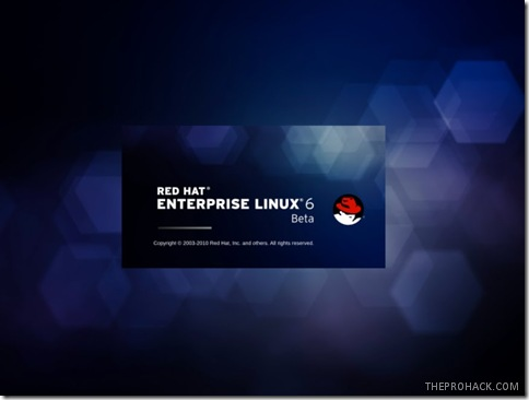 RHEL 6 splash screen - theprohack.com